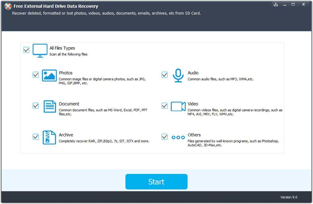 Free External Hard Drive Data Recovery 5.8.8.9 full