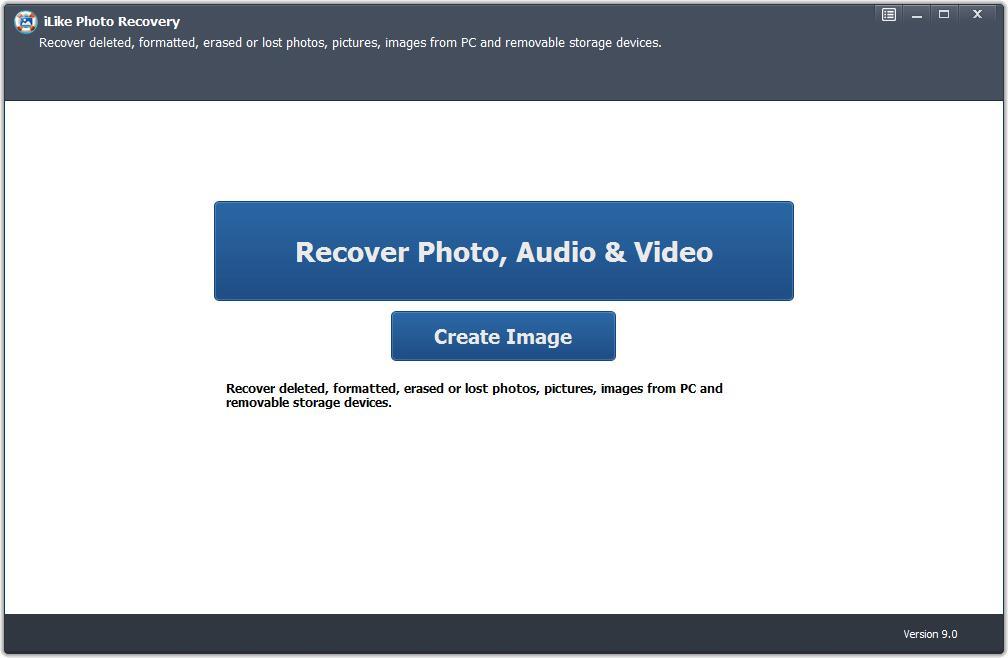 iLike Photo Recovery full screenshot
